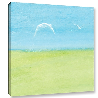 Varick Gallery 'Horizon IV' by Sia Aryai Painting Print on Wrapped Canvas; 14'' H x 14'' W x 2'' D