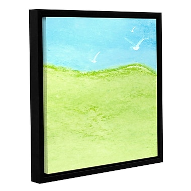 Varick Gallery 'Horizon V' by Sia Aryai Framed Painting Print ; 14'' H x 14'' W x 2'' D