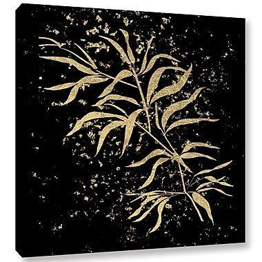 Varick Gallery Gold Splatter Bamboo Graphic Art on Wrapped Canvas; 18'' H x 18'' W x 2'' D
