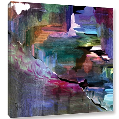 Varick Gallery Untilted Paining Print on Wrapped Canvas; 10'' H x 10'' W x 2'' D
