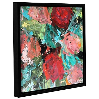 Varick Gallery 'Red Rose' by Emma Bell Abstract Framed Painting Print Wrapped on Canvas