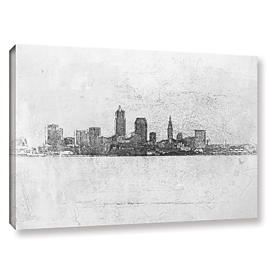 Varick Gallery Cleveland Pointillism Painting Print on Wrapped Canvas; 12'' H x 18'' W x 2'' D
