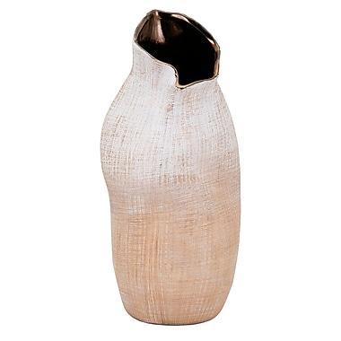 Varick Gallery Brown Ceramic Table Vase; 12.75''H x 5.5'' W x 5.5'' D