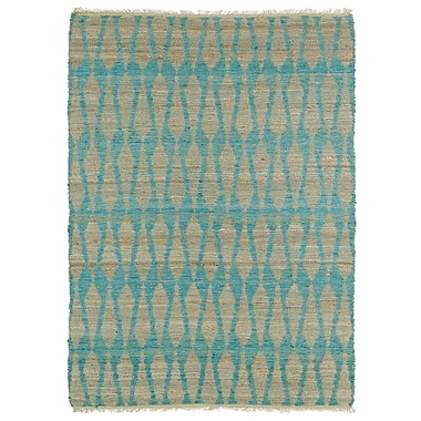 Varick Gallery Millbourne Light Beige & Teal Area Rug; 3'6'' x 5'6''