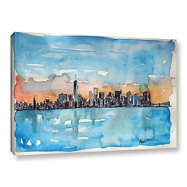 Varick Gallery Downtown Manhattan Skyline Painting Print on Wrapped Canvas; 12'' H x 18'' W x 2'' D