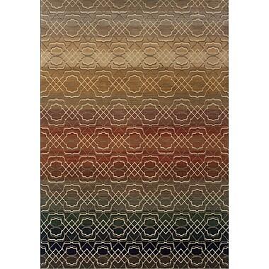 Varick Gallery Hallock Geometric Brown/Beige Area Rug; 9'10'' x 12'10''
