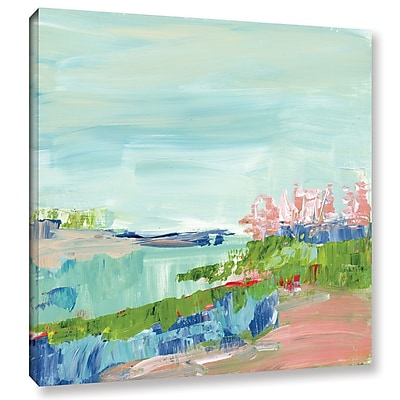 Varick Gallery Abstract Glimpse Painting Print on Wrapped Canvas; 14'' H x 14'' W x 2'' D