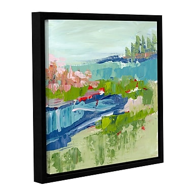 Varick Gallery Abstract Glitter Framed Painting Print; 18'' H x 18'' W x 2'' D