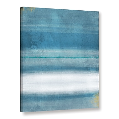 Varick Gallery Blue Abstract Print of Painting on Wrapped Canvas; 32'' H x 24'' W x 2'' D