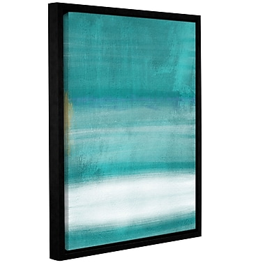 Varick Gallery Blue Abstract II Framed Print of Painting; 18'' H x 14'' W x 2'' D