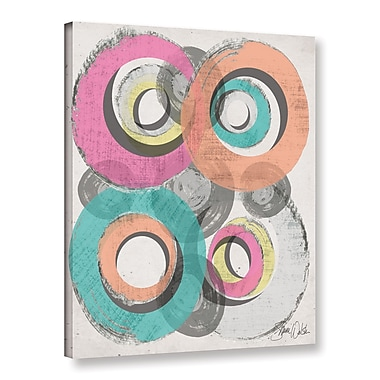 Varick Gallery Circle Abstract II Graphic Art on Wrapped Canvas; 32'' H x 24'' W x 2'' D