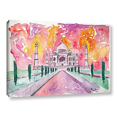 Varick Gallery Taj Mahal Colorful Painting Print on Wrapped Canvas; 24'' H x 36'' W x 2'' D