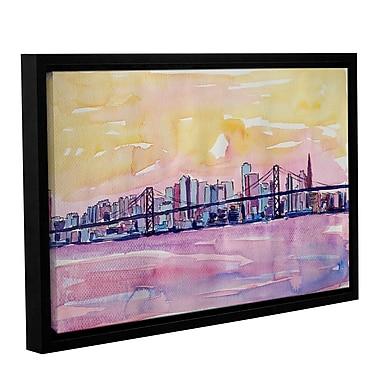Varick Gallery Super San Francisco Skyline Framed Painting Print; 8'' H x 12'' W x 2'' D