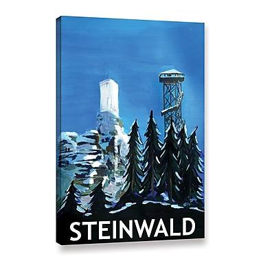 Varick Gallery Steinwald Poster Painting Print on Wrapped Canvas; 12'' H x 8'' W x 2'' D