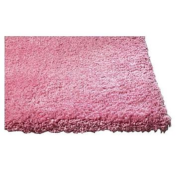 Varick Gallery Bouvier Hot Pink Area Rug; Round 6'