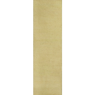 Varick Gallery Bouvier Canary Yellow Area Rug; Runner 2'3'' x 7'6''