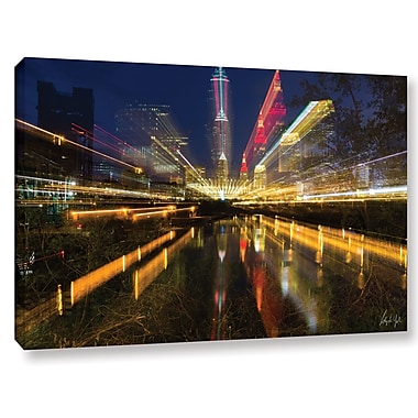 Varick Gallery Cleveland Time Warp Graphic Art on Wrapped Canvas; 16'' H x 24'' W x 2'' D
