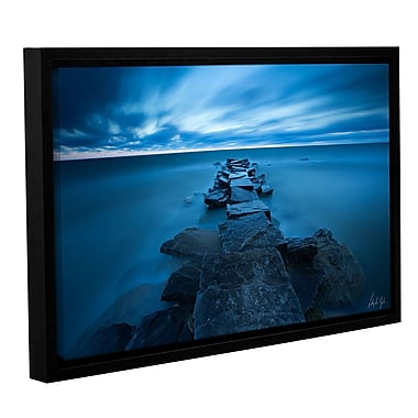 Varick Gallery Blue Skies over Lake Erie Framed Photographic Print; 12'' H x 18'' W x 2'' D