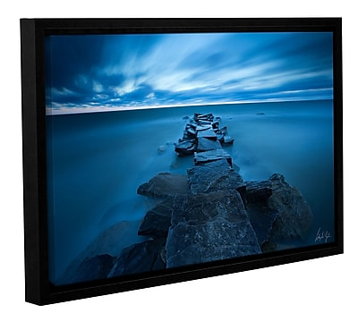Varick Gallery Blue Skies over Lake Erie Framed Photographic Print; 8'' H x 12'' W x 2'' D