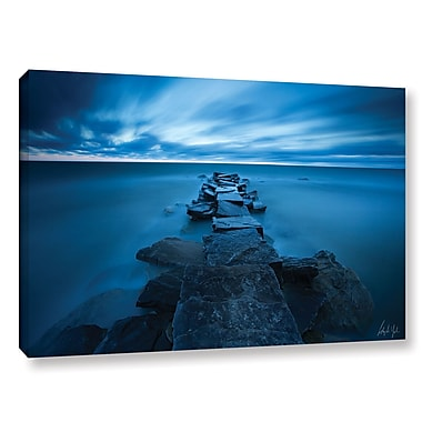 Varick Gallery 'Blue Skies over Lake Erie' Print on Wrapped Canvas ; 12'' H x 18'' W x 2'' D