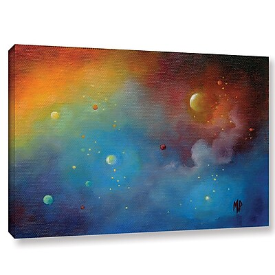 Varick Gallery Spaced Out Painting Print on Wrapped Canvas; 12'' H x 18'' W x 2'' D