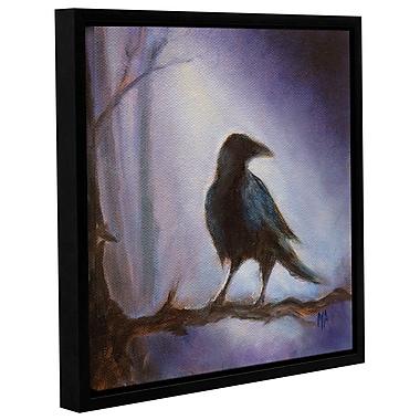 Varick Gallery Crow Framed Painting Print; 10'' H x 10'' W x 2'' D