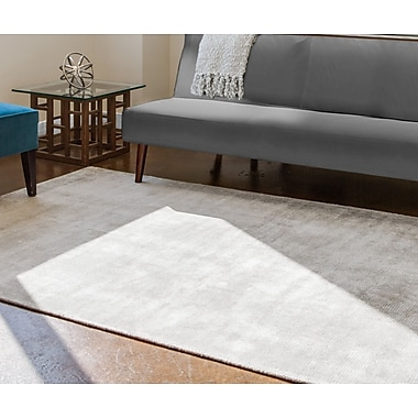 Varick Gallery Sugarland Hand-Woven Gray Area Rug