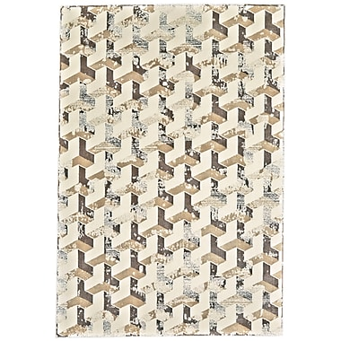 Varick Gallery Medford Cream/Brown Area Rug; 10' x 13'2''