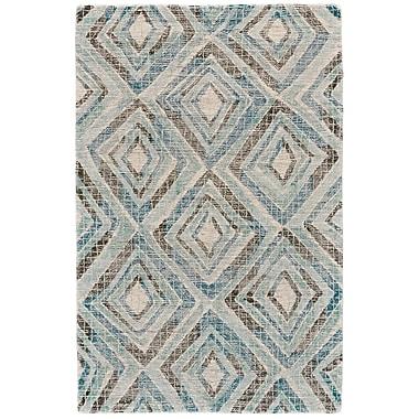 Varick Gallery Wells Hand-Tufted Blue Area Rug; 5' x 8'