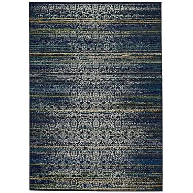 Varick Gallery Peasedown St John Midnight Blue Area Rug; 2'2'' x 4'