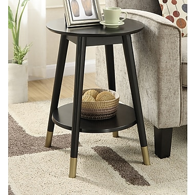 Varick Gallery Boese End Table; Black