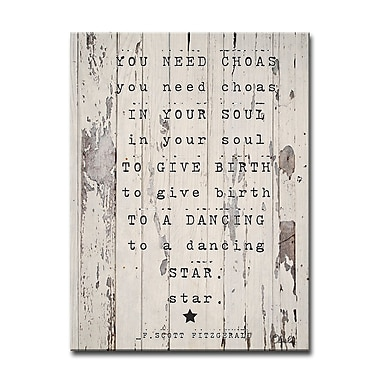 Varick Gallery Dancing Star Textual Art on Wrapped Canvas; 20'' H x 16'' W x 1.5'' D