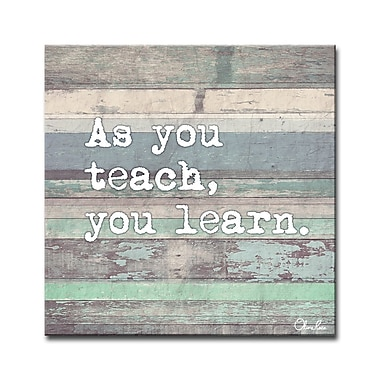 Varick Gallery Teach and Learn Textual Art on Wrapped Canvas; 16'' H x 16'' W x 1.5'' D