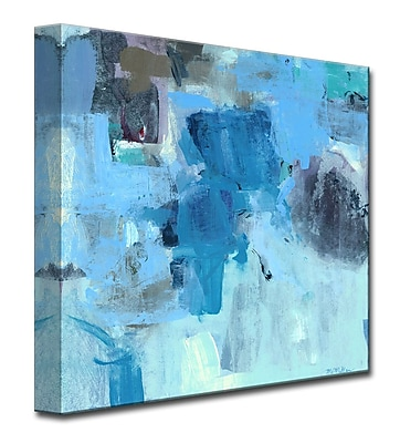 Varick Gallery Warm Blues Painting Print on Wrapped Canvas; 20'' H x 20'' W x 1.5'' D