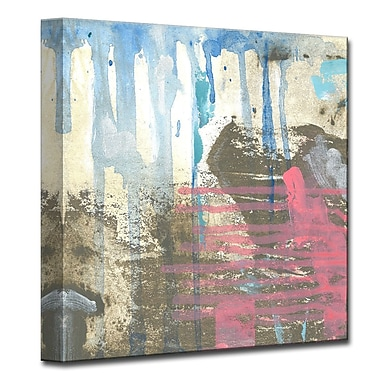 Varick Gallery Browns, Blues & Pink Painting Print on Wrapped Canvas; 30'' H x 30'' W x 1.5'' D