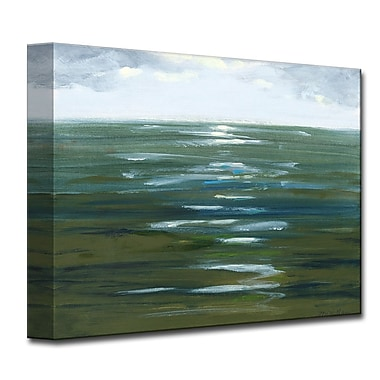Varick Gallery Overcast Painting Print on Wrapped Canvas; 12'' H x 16'' W x 1.5'' D