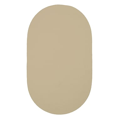 Varick Gallery Yonkers Coffee Solid Rug; Oval 2' x 3'