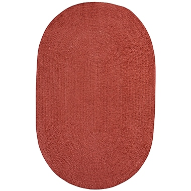 Varick Gallery Yonkers Braided Red Area Rug; Oval 3' x 5'