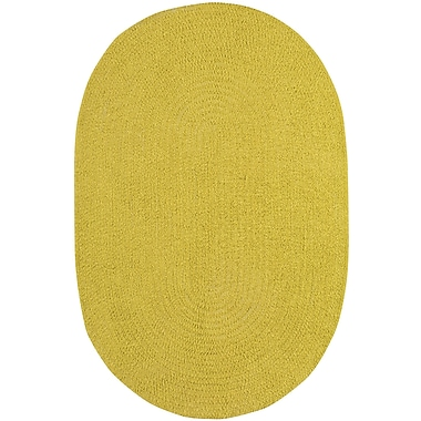 Varick Gallery Yonkers Braided Leaf Area Rug; Oval 2' x 3'