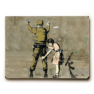 Varick Gallery Checkpoint Pigtails Painting Print on Wood