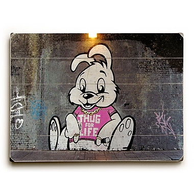 Varick Gallery Thug for Life Photographic Print on Wood; 25'' H x 34'' W x 1'' D