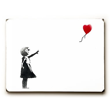 Varick Gallery Girl Chasing Heart Painting Print on Wood
