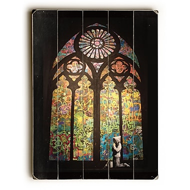 Varick Gallery Stained Glass Graphic Art on Wood; 34'' H x 25'' W x 1'' D