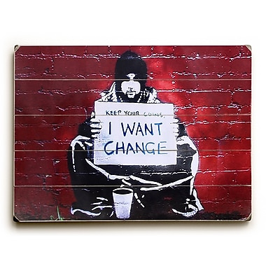 Varick Gallery Keep Your Coins Graphic Art on Wood; 30'' H x 40'' W x 1'' D