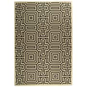Varick Gallery Jefferson Place Sand & Black Outdoor Area Rug; 9' x 12'6''