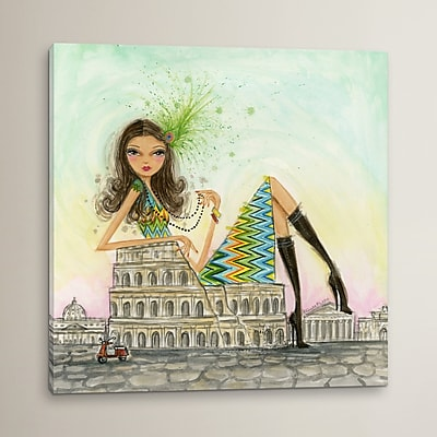 Varick Gallery See The Sights Rome Painting Print on Wrapped Canvas; 18'' H x 18'' W x 1.5'' D