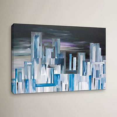 Varick Gallery City Nights 1 Painting Print on Wrapped Canvas; 24'' H x 36'' W x 2'' D