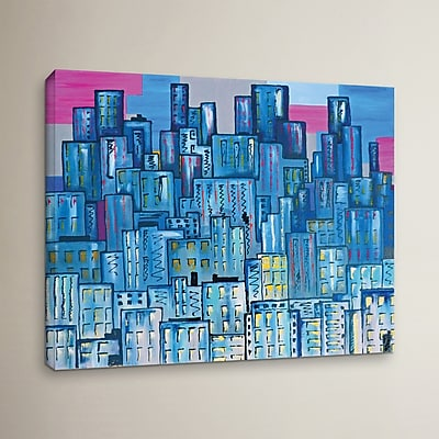 Varick Gallery City Lights 10 Painting Print on Wrapped Canvas; 24'' H x 32'' W x 2'' D