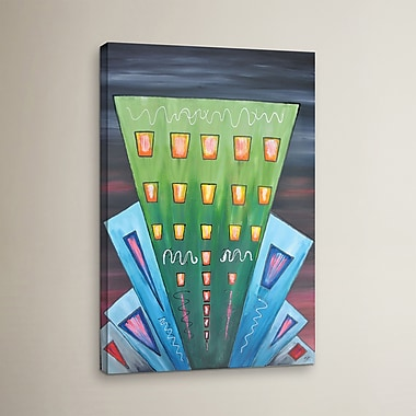 Varick Gallery City Lights 12 Painting Print on Wrapped Canvas; 08'' x 12''