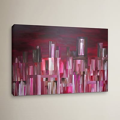 Varick Gallery City Nights 2 Painting Print on Wrapped Canvas; 32'' H x 48'' W x 2'' D